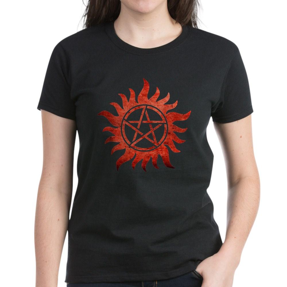 Supernatural Anti-Possession Tattoo Women's Dark T-Shirt