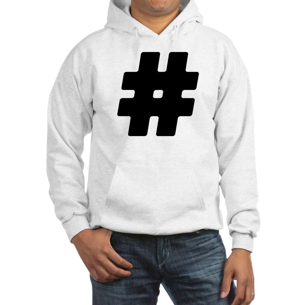 Black #Hashtag Hooded Sweatshirt