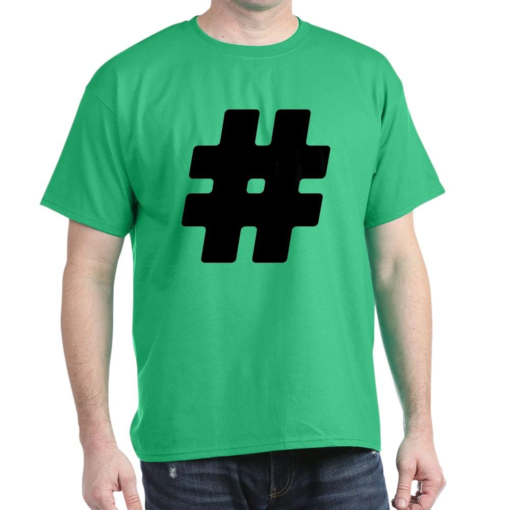 Black #Hashtag Dark T-Shirt