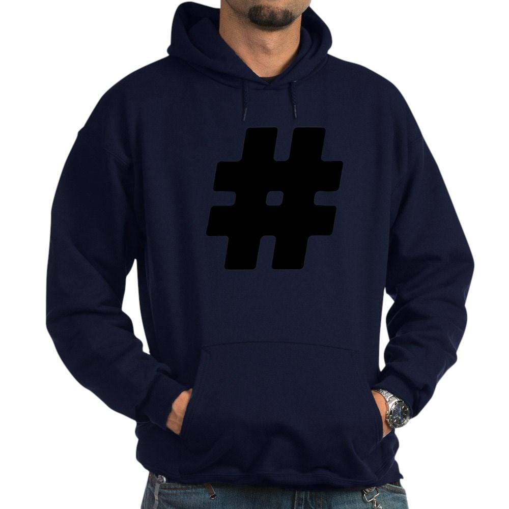 Black #Hashtag Dark Hoodie