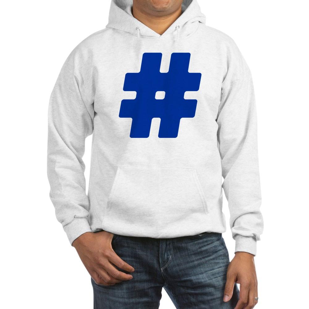 Blue #Hashtag Hooded Sweatshirt