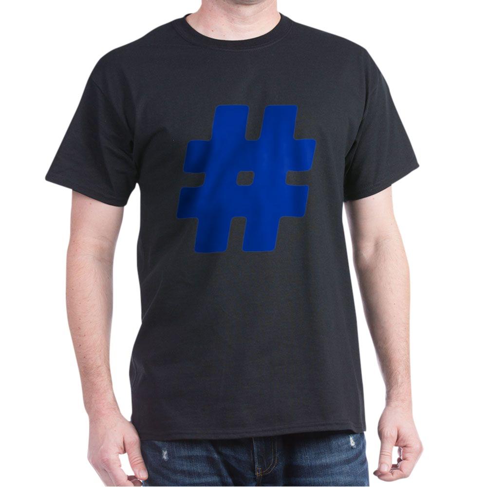 Blue #Hashtag Dark T-Shirt
