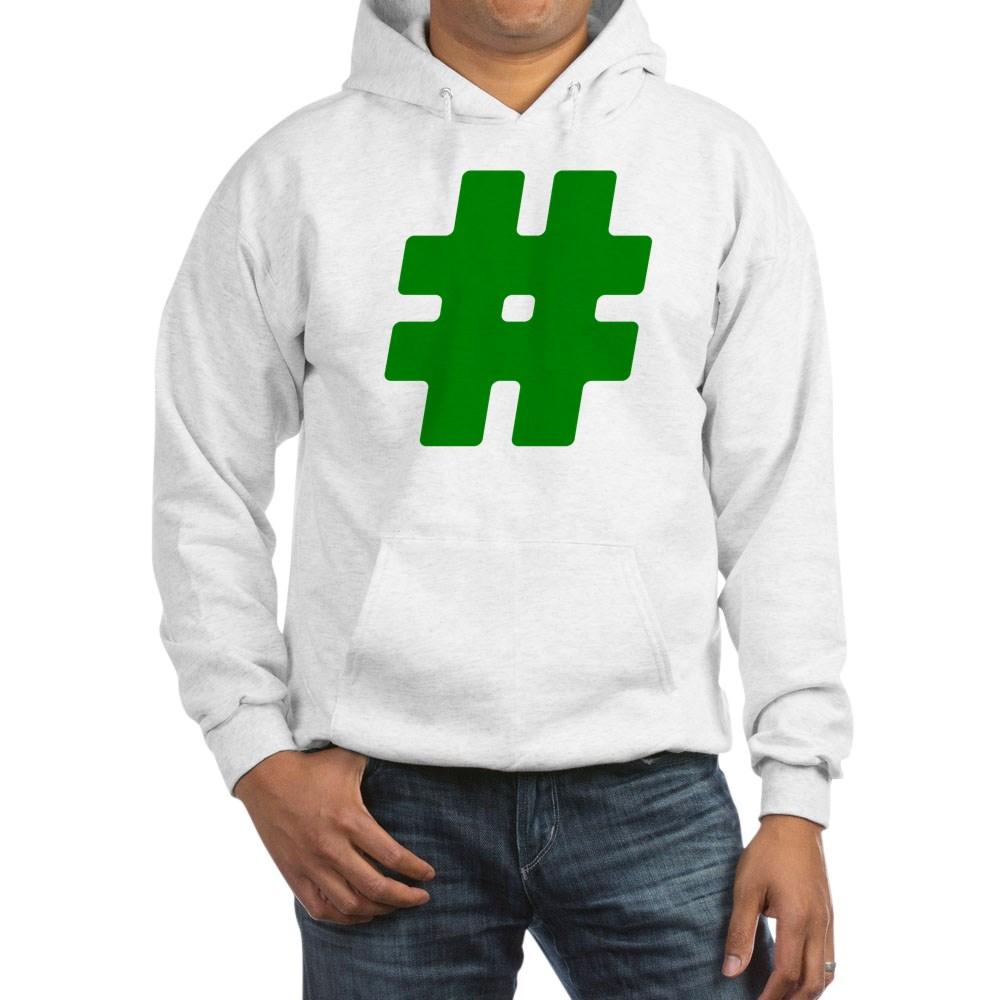 Green #Hashtag Hooded Sweatshirt