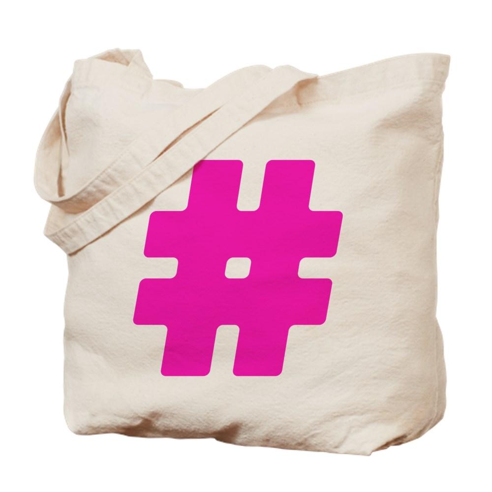 Hot Pink #Hashtag Tote Bag