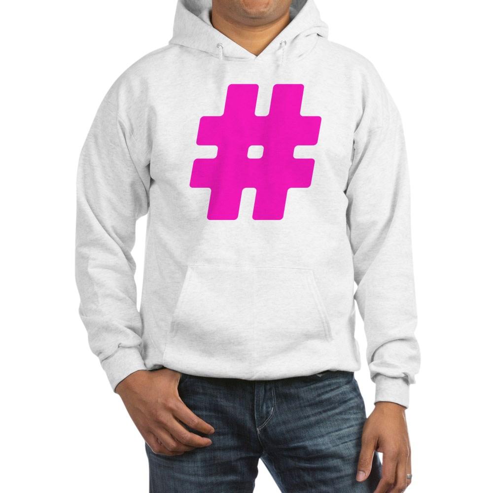 Hot Pink #Hashtag Hooded Sweatshirt