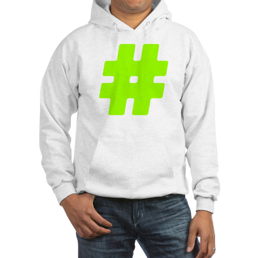 Neon Green #Hashtag Hooded Sweatshirt