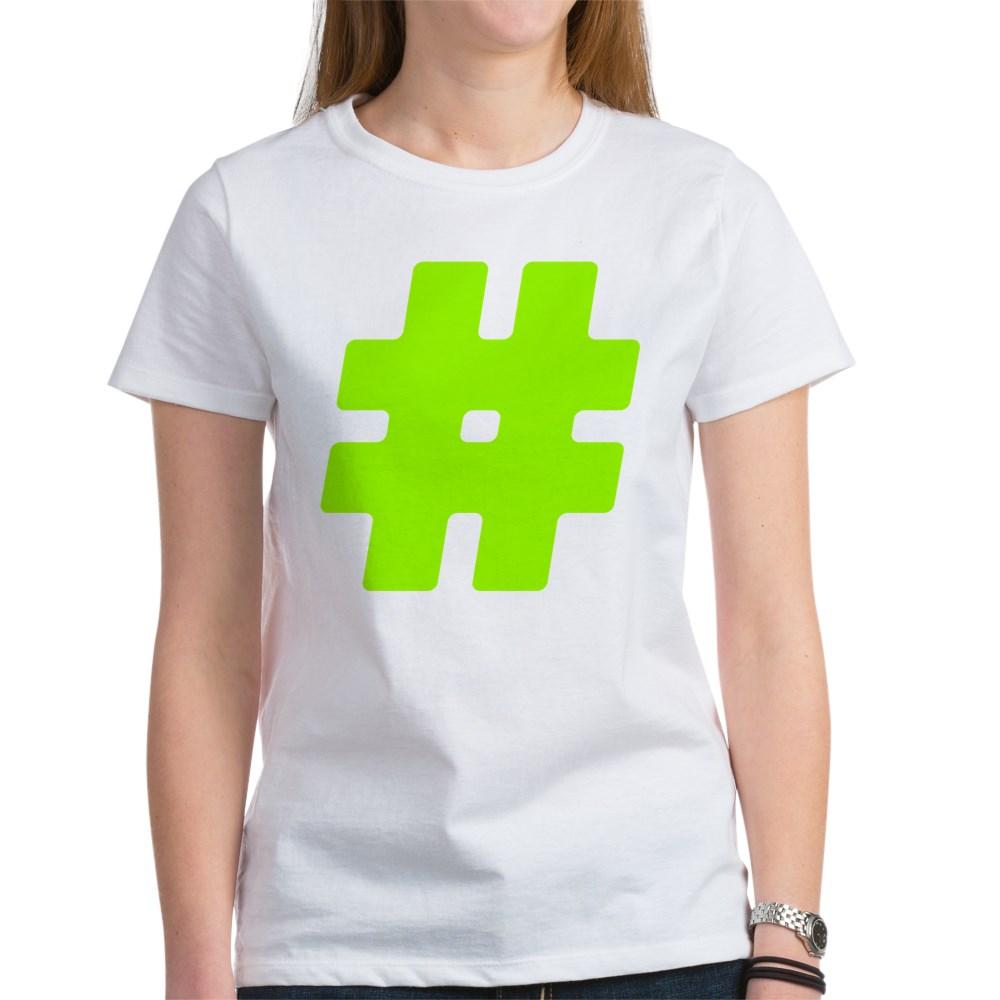 Neon Green #Hashtag Women's T-Shirt