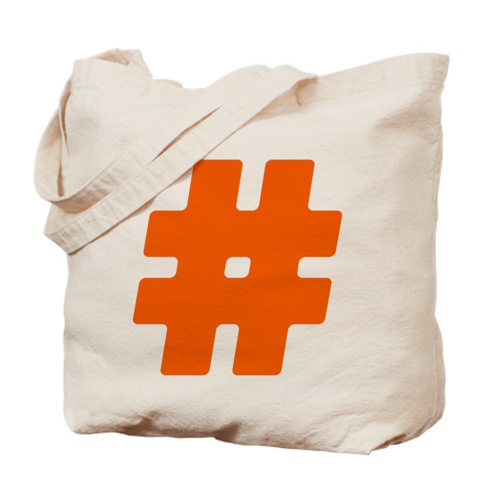 Orange #Hashtag Tote Bag