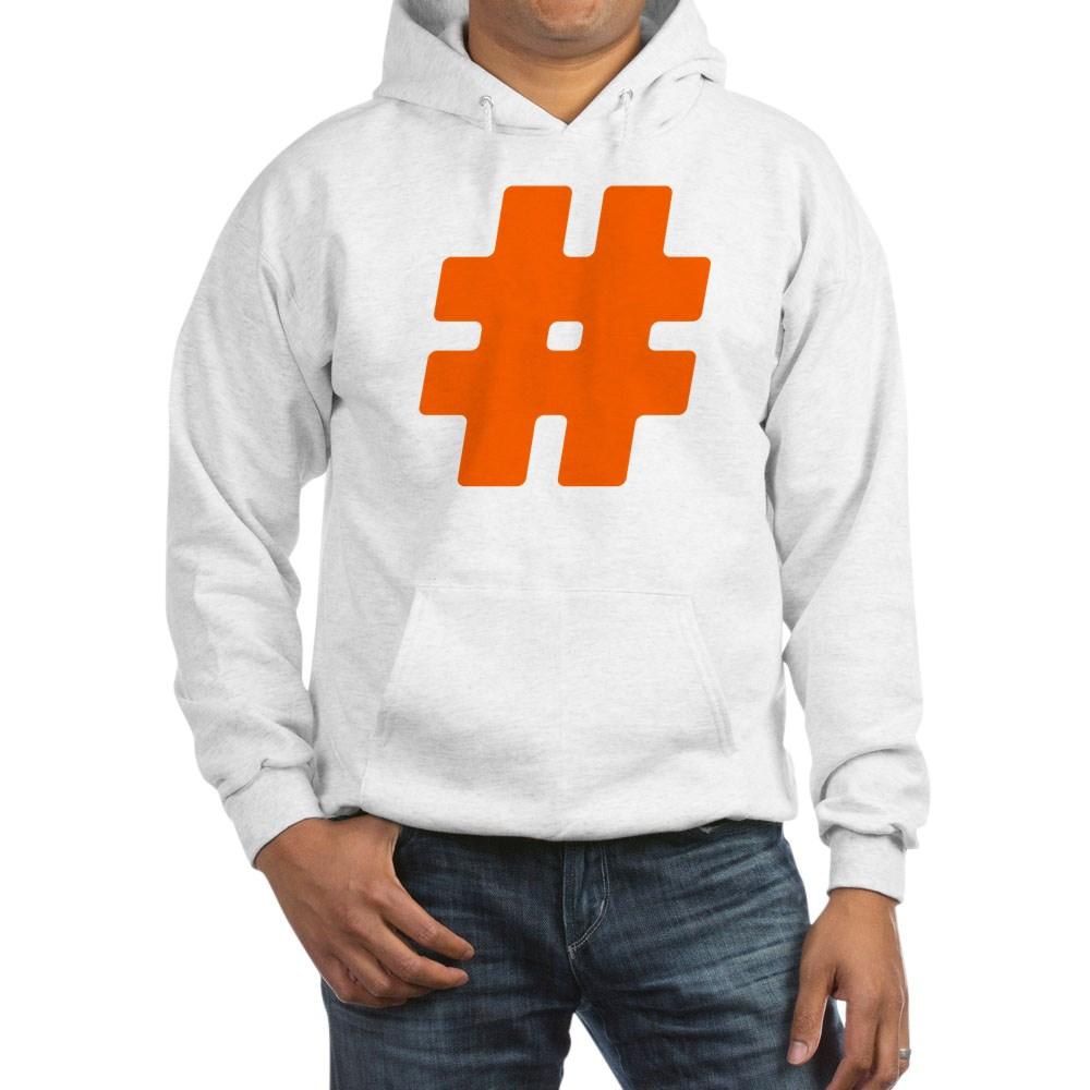 Orange #Hashtag Hooded Sweatshirt
