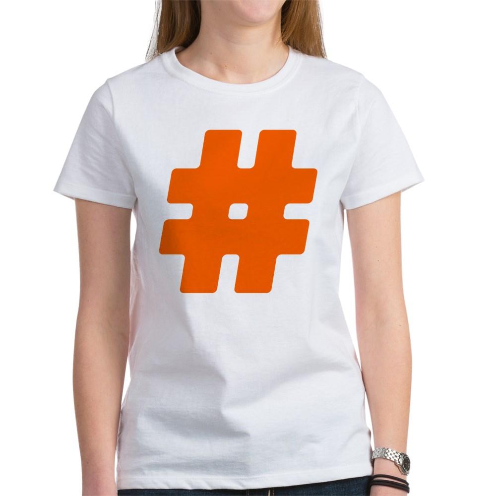 Orange #Hashtag Women's T-Shirt