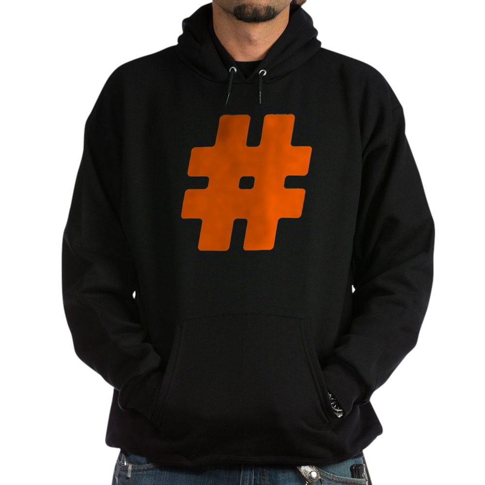 Orange #Hashtag Dark Hoodie