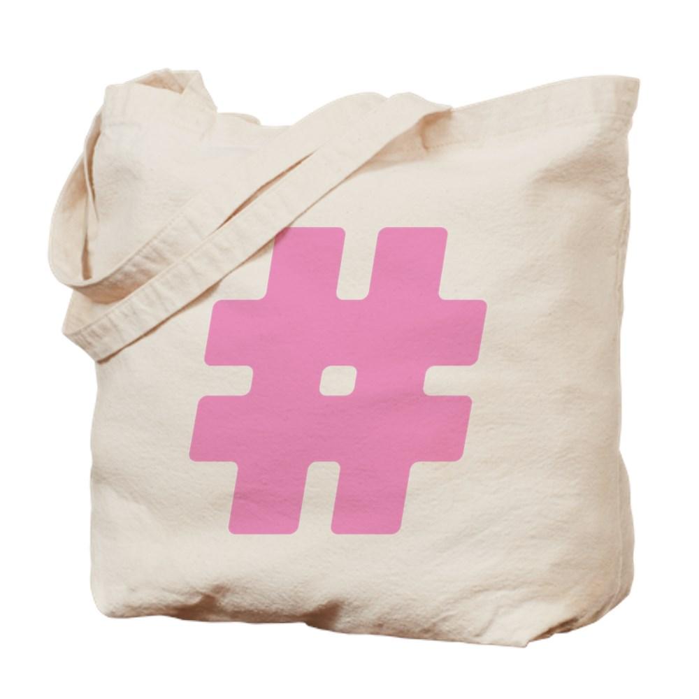 Pink #Hashtag Tote Bag