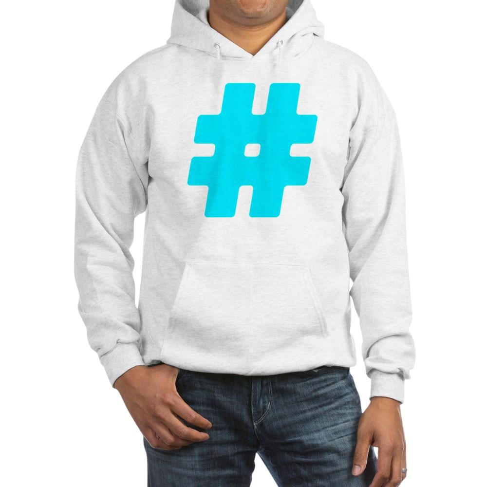 Turquoise #Hashtag Hooded Sweatshirt