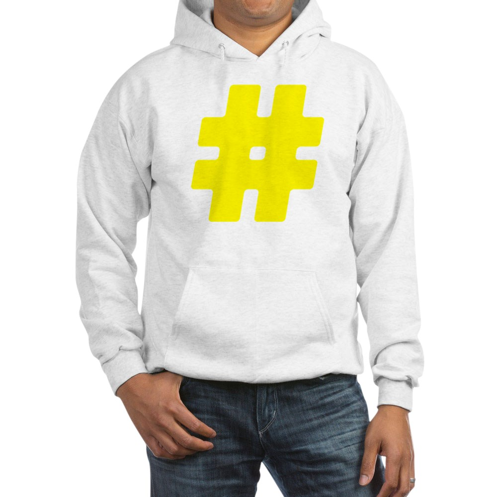 Yellow #Hashtag Hooded Sweatshirt