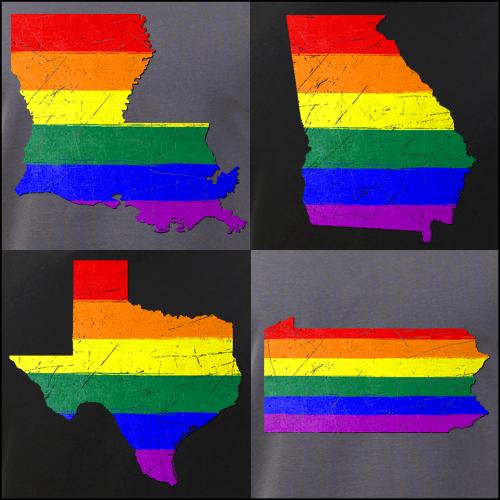 LGBTQ Pride State Silhouettes