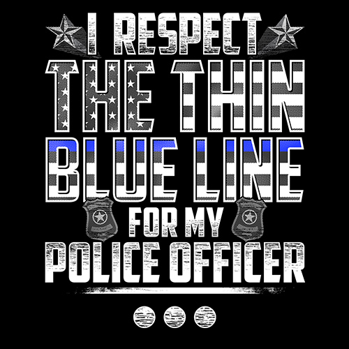 Thin Blue Line Police Officer