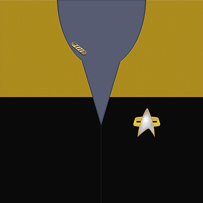 Star Trek: VOY Provisional Operations Gold Uniforms