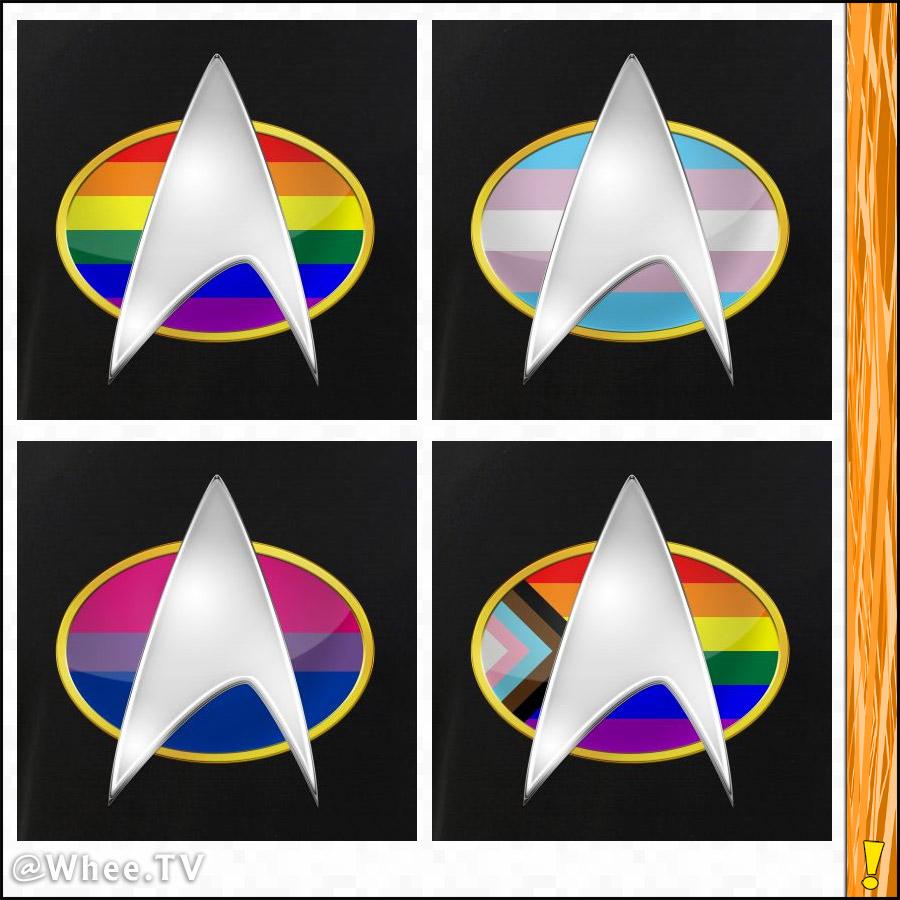 LGBTQ Pride TNG Combadge Designs