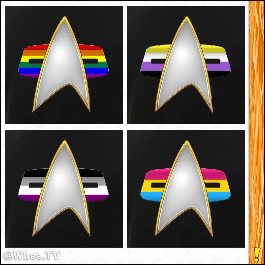 LGBTQ Pride VOY Combadge Designs
