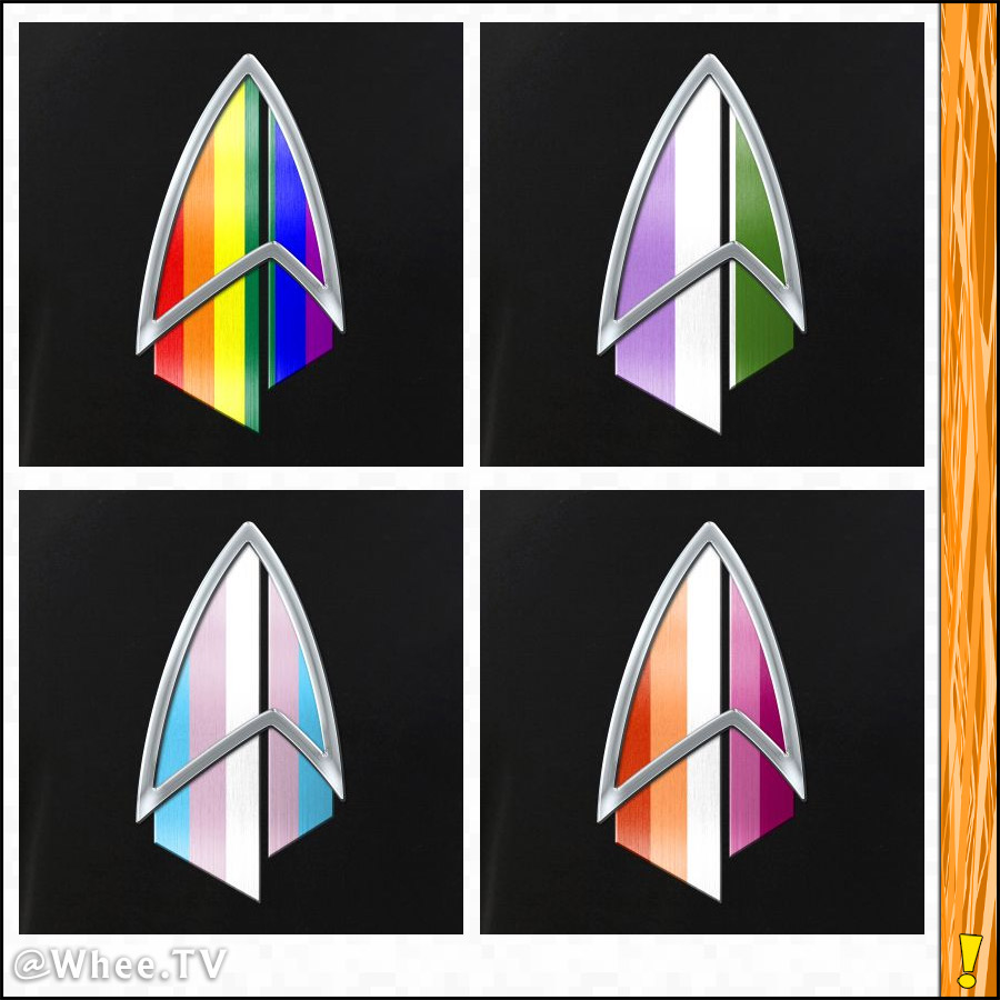 LGBTQ Pride Picard Combadge Designs