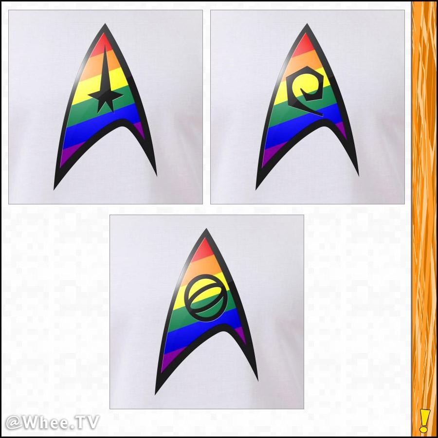 LGBTQ Pride TOS Starfleet Insignia