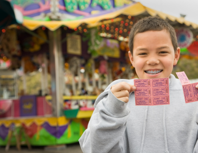 Carnival Tickets and Game Booths