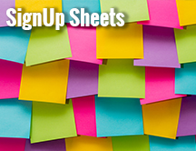 SignUp Sheets for All Your Activities & Events