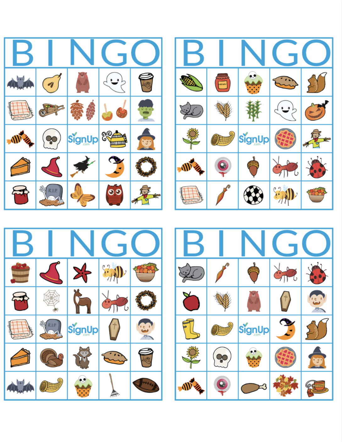 photograph about Fall Bingo Printable identified as Printable Bingo Playing cards: Exciting Tumble Clroom Bash Video game