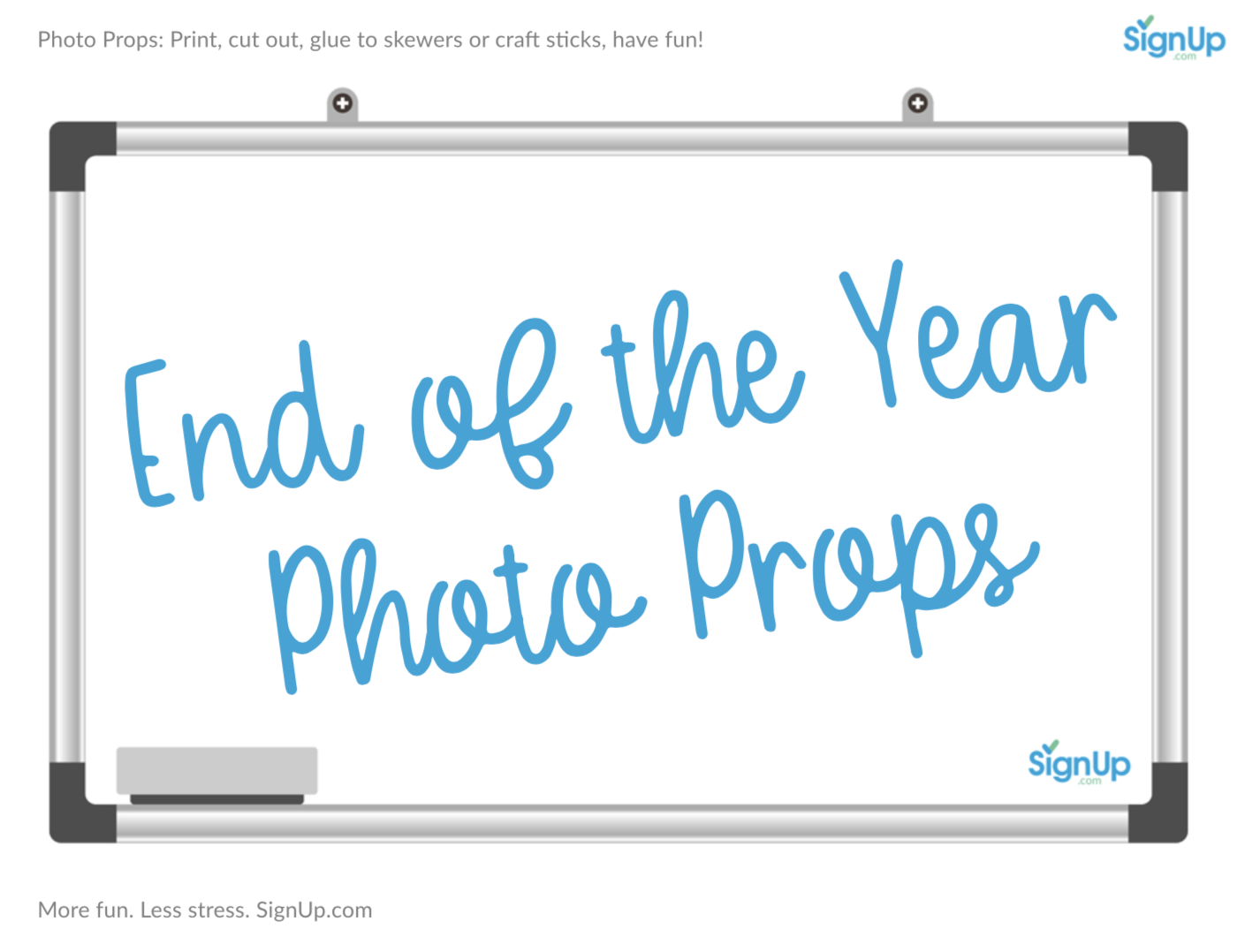 End of the Year Photo Props