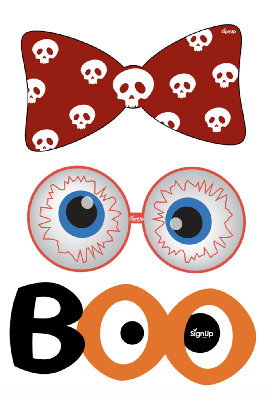 Printable Photobooth Props Halloween Party Craft Activity Signupcom