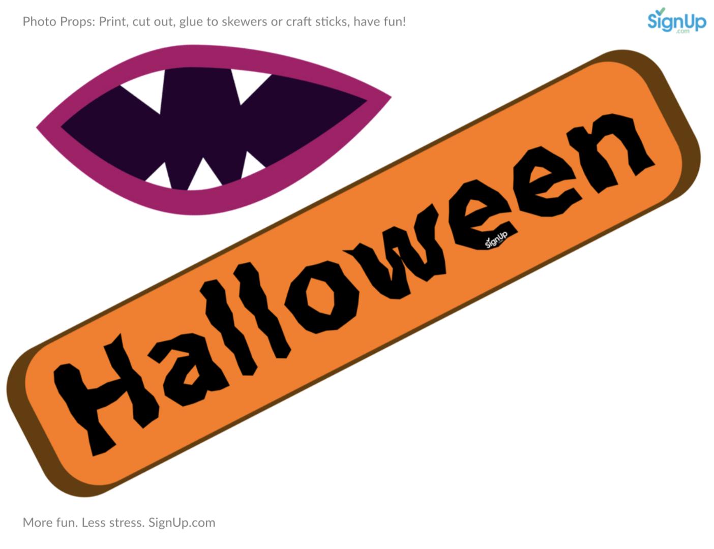 image regarding Halloween Photo Booth Props Printable identified as Printable Photobooth Props: Halloween Get together Craft Sport