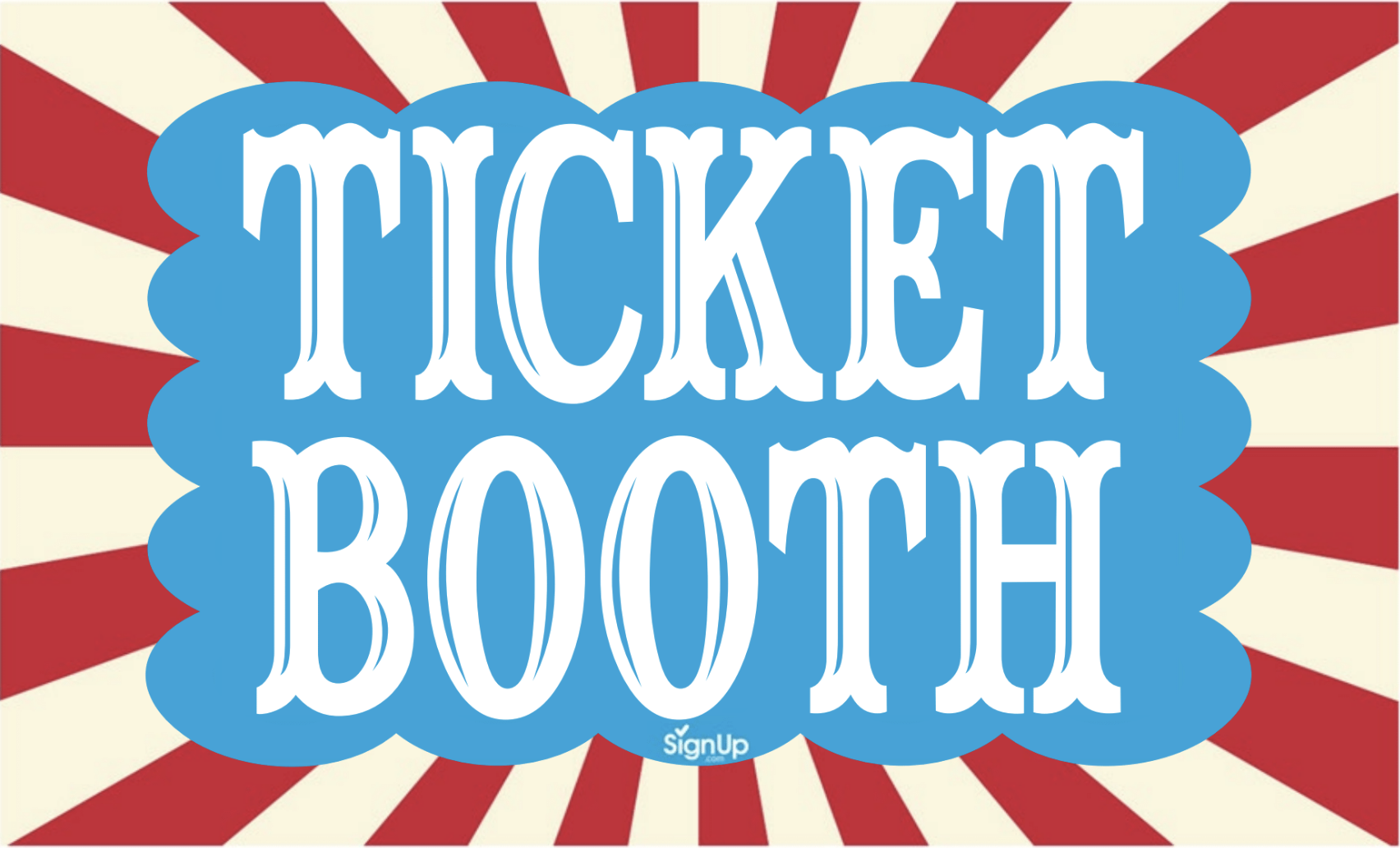 Printable Carnival Ticket Booth Sign