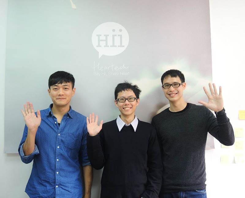 (左起) Heartech 團隊成員:方誌培、賴時正、黃榮慶