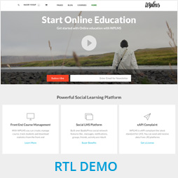 WPLMS RTL Demo rtl demo - WPLMS Learning Management System for WordPress, Education Theme