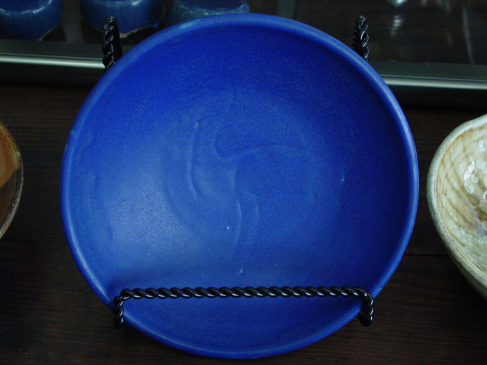 Blue Bowl w/inscribed Llama 1939