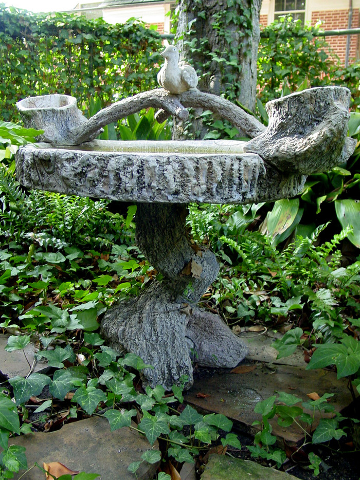 Bird Bath Sculpted Circa 1940s