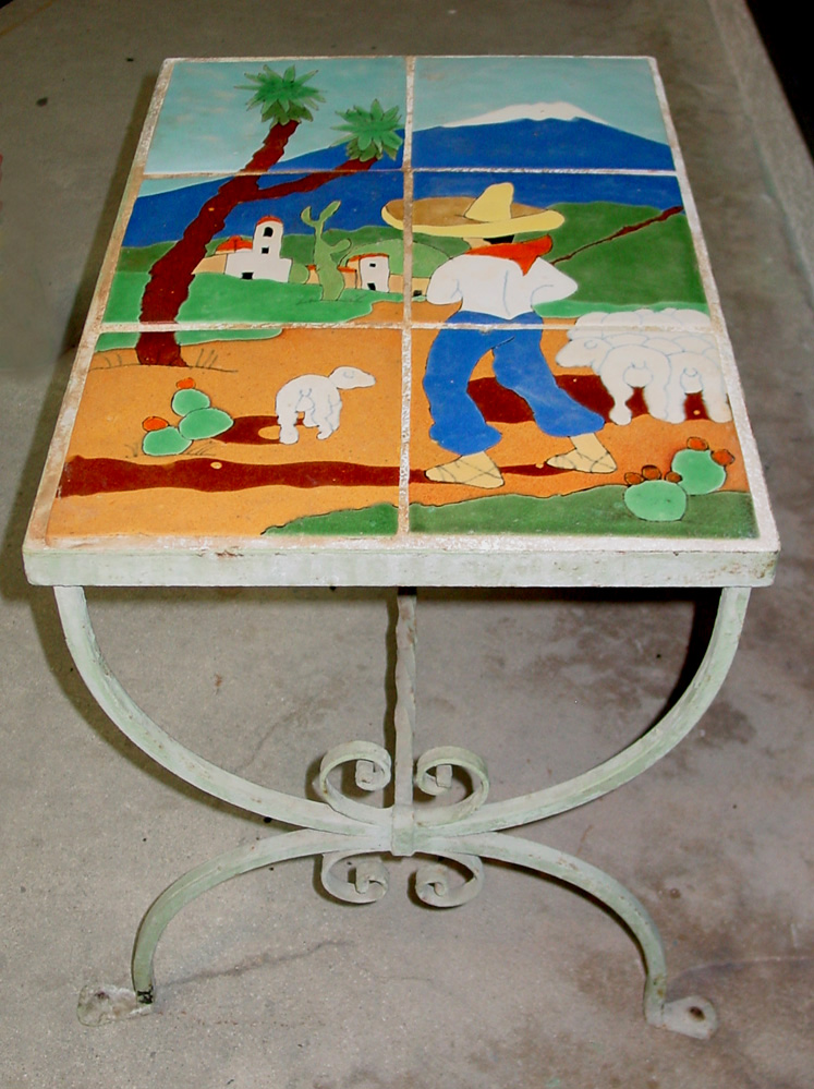 San Jose Pottery Scenic Tile Table 172 Vintage