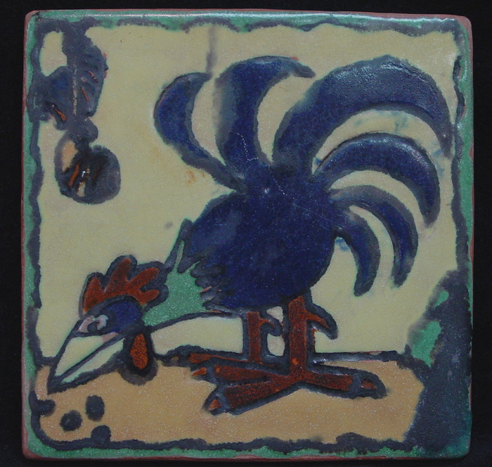 1946 Rooster Tile