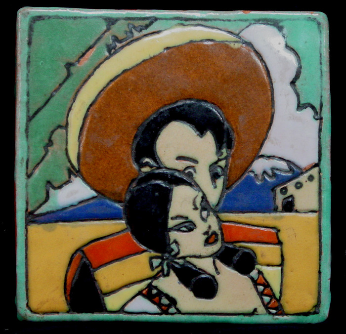 "1944 ""Mexican Couple"" Tile"