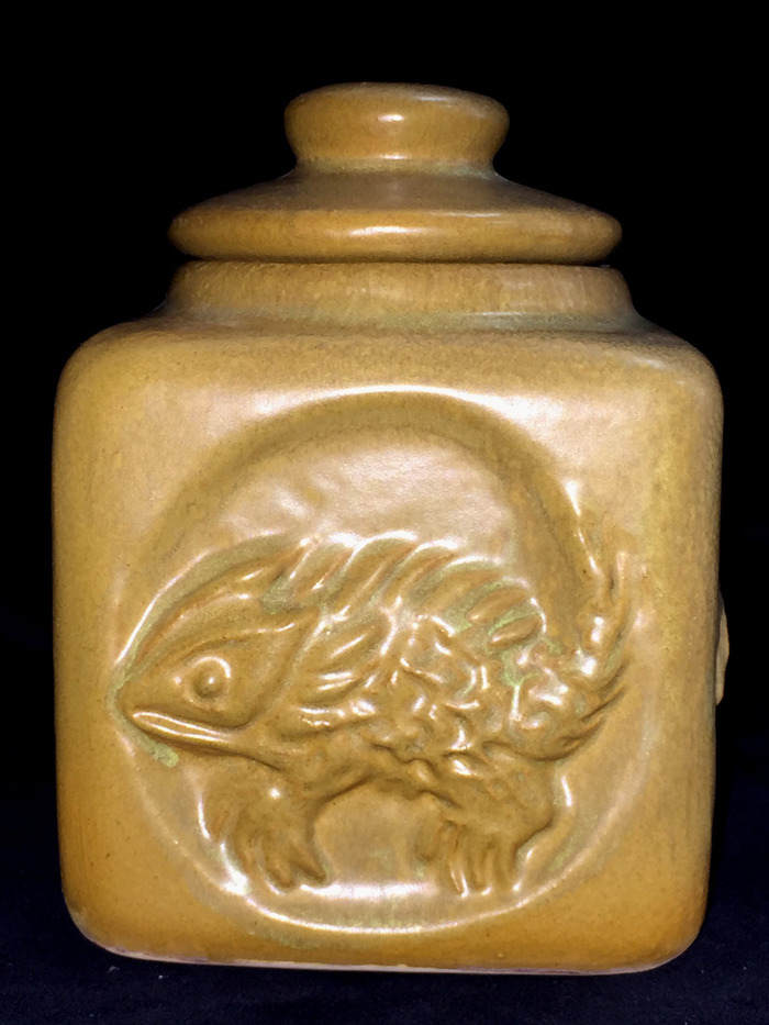 1971 Horny Toad Jar with Lid