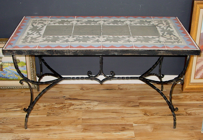 Early Mosaic Tile Table