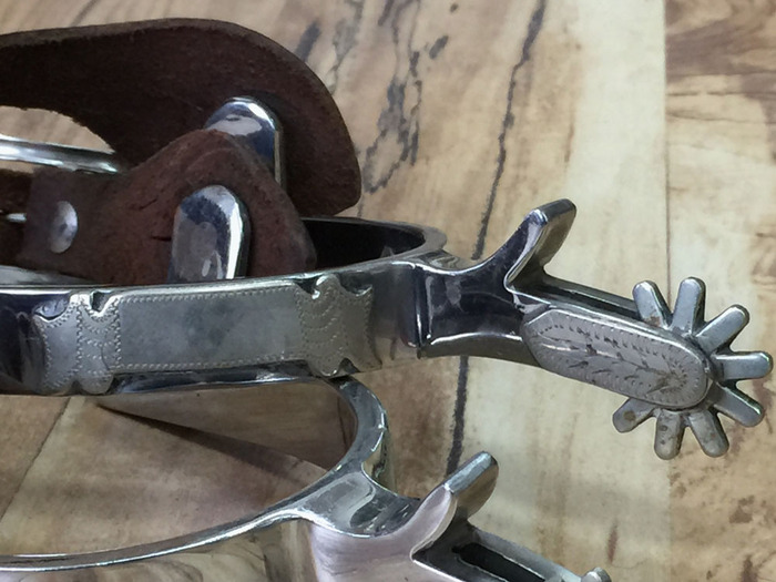 Crockett Stainless Spurs
