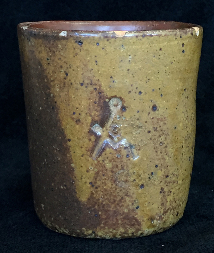 Mug Signed with Mason Masonic Logo  Circa 1920s