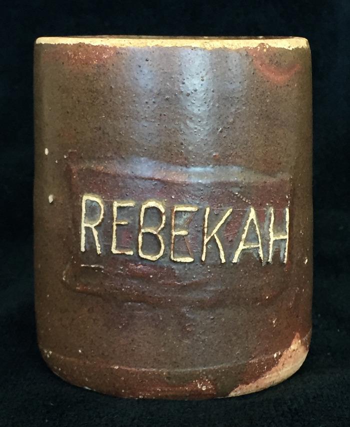 Mug Signed  Rebekah  Circa 1920s