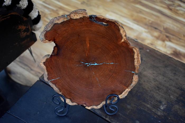 Mesquite End-Grain Natural Edge Platter