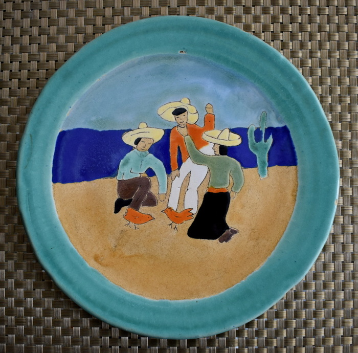 "Plate ""Cock Fight"""