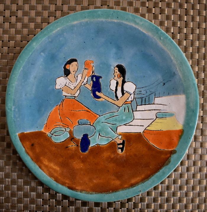 "Plate ""Women with Pitchers"""