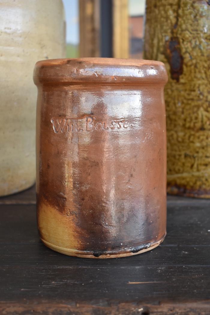 Signed Stoneware Jar Fredericksburg Texas  Pottery / Stoneware