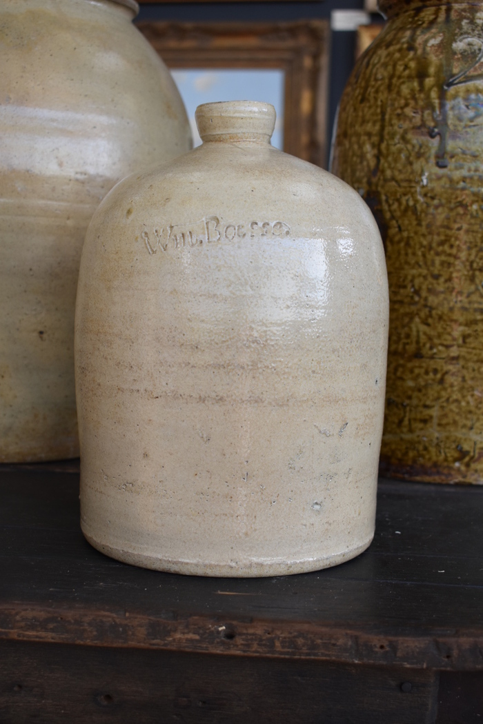 Signed Fredericksburg Texas Advertising Jar Pottery / Stoneware