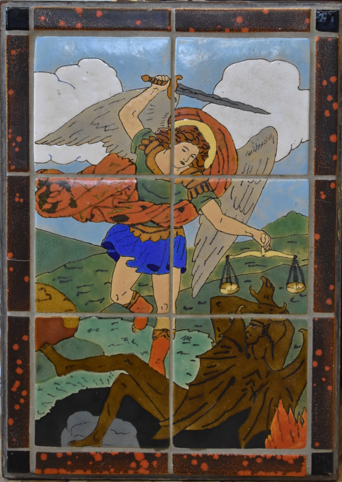 St. Michael the Archangel San Jose Tile Plaque